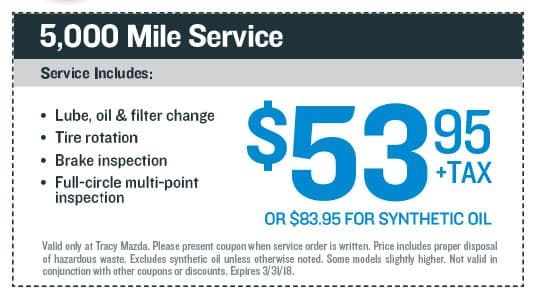 5,000 Mile Service Coupon