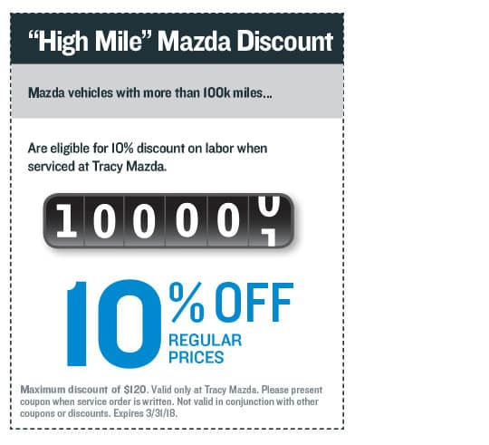 High Mile Mazda Discount Coupon