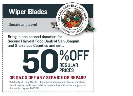Wiper Blades Food Bank Donation Coupon