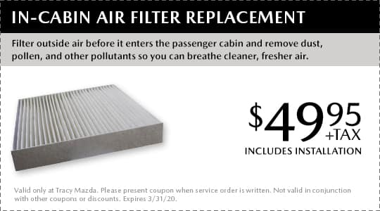 In-Cabin Air Filter Replacement Coupon