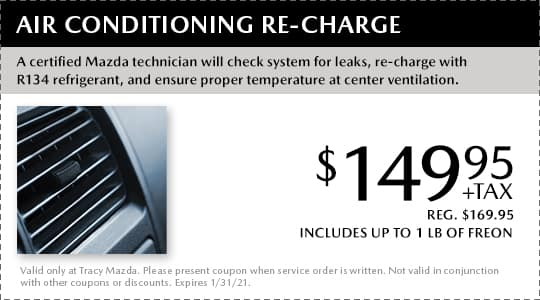Air Conditioning Re-Charge Coupon