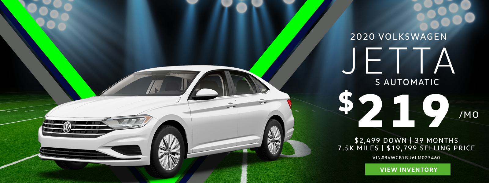 Lease a 2020 Jetta S for $219/mo.