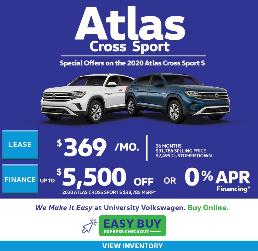 2020 Atlas Cross Sport Offers