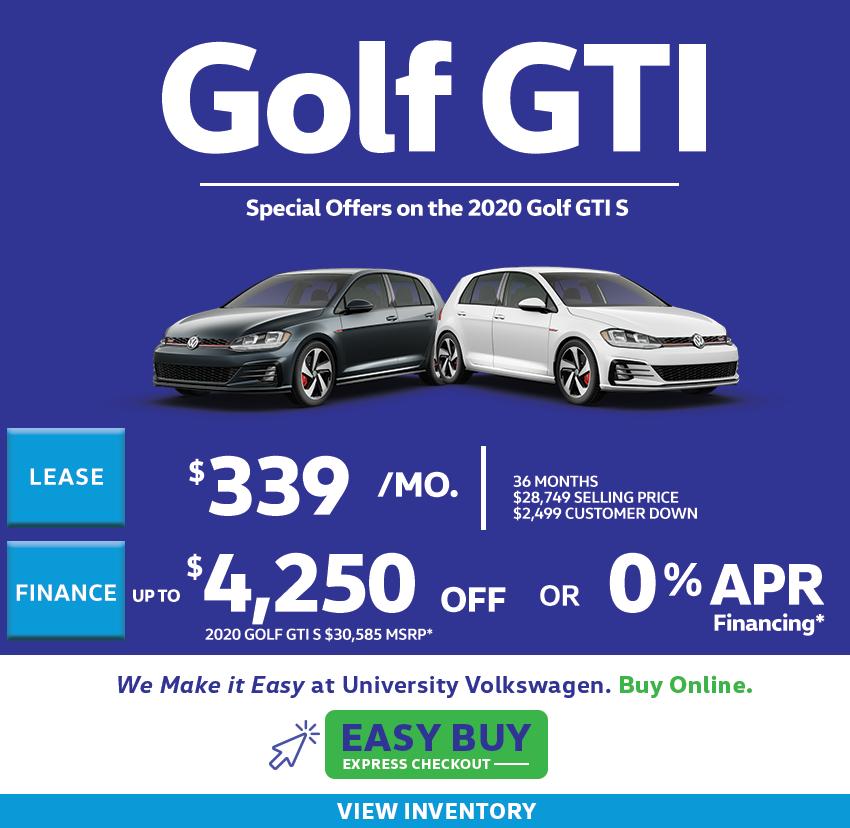 2020 Golf Offers