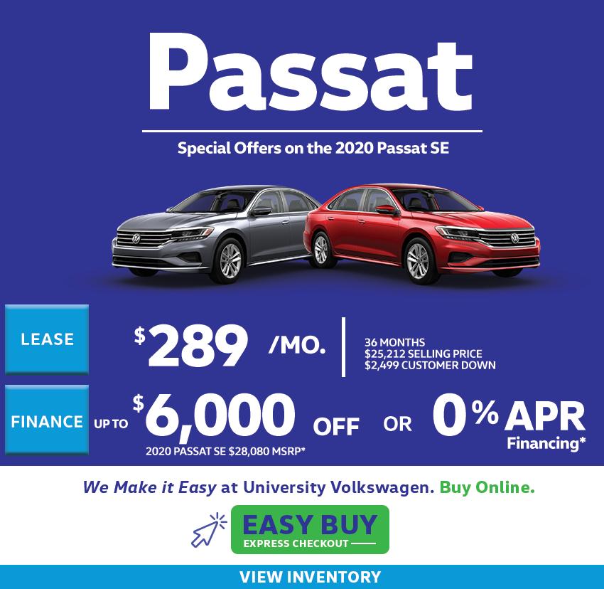 2020 Passat Offers