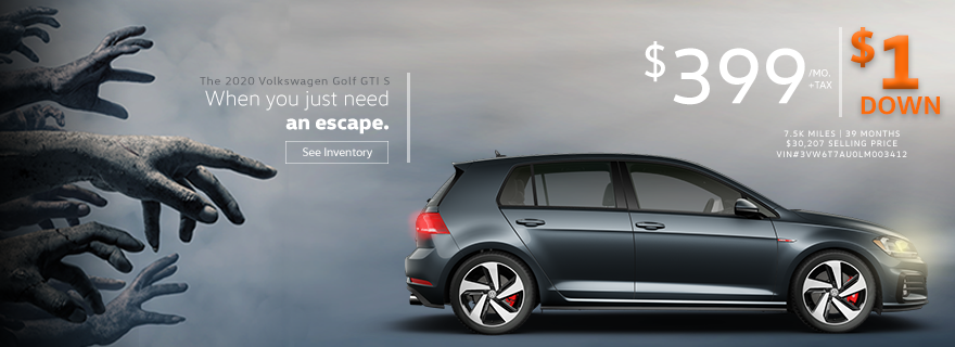 Lease a 2020 Golf GTI for $399/mo.