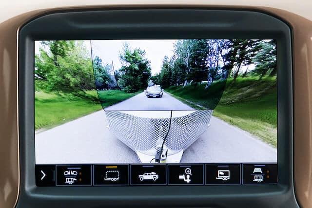 Chevy Transparent Trailer View Infotainment Screen