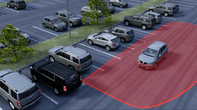 GMC Rear Cross Traffic Alert Image