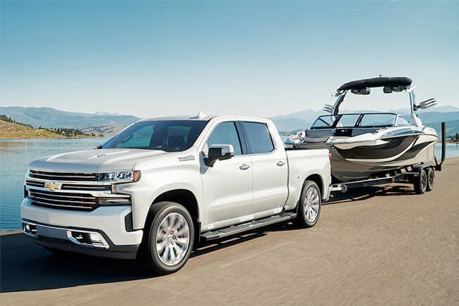 Chevy Silverado Trucks Towing Image