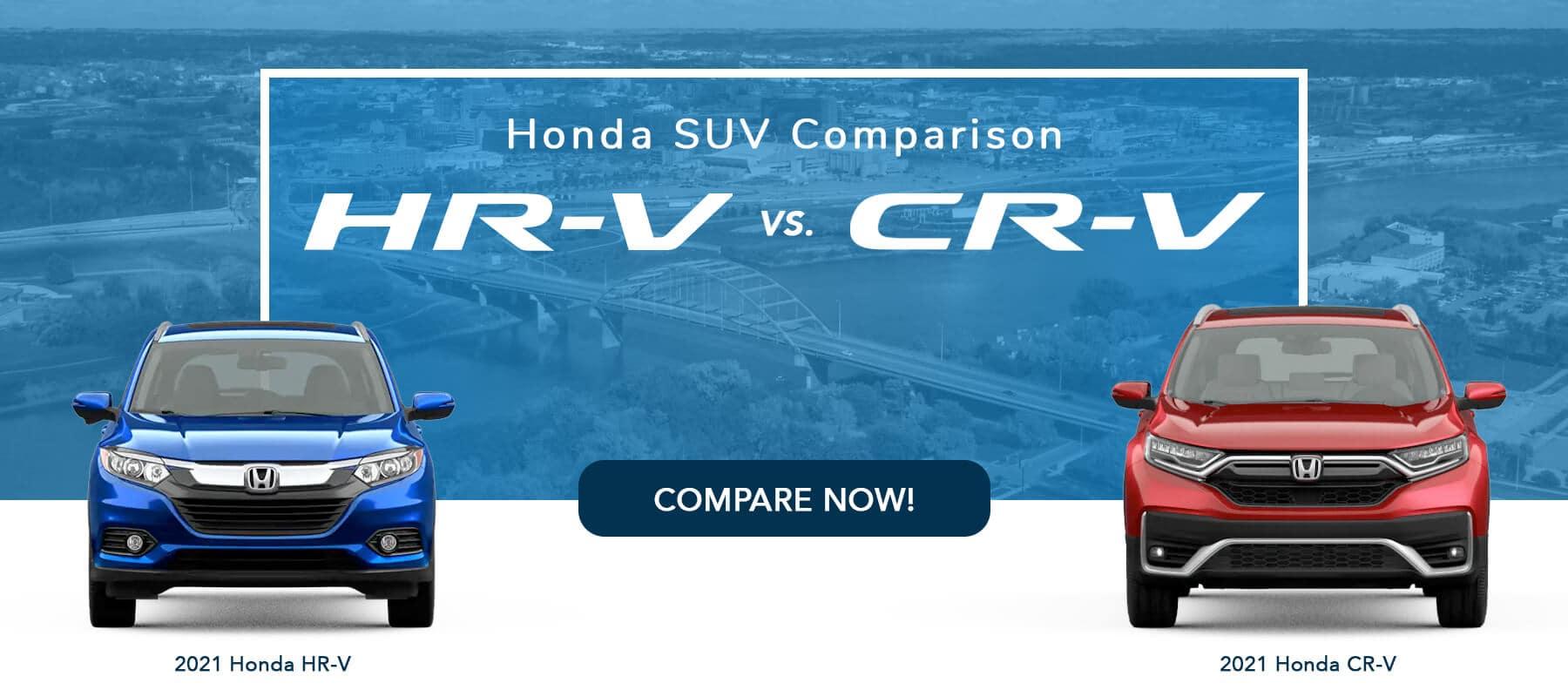 2021 Honda HR-V Versus 2021 Honda CR-V Slider