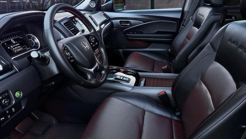 New Honda Pilot Black Edition Interior Features Image