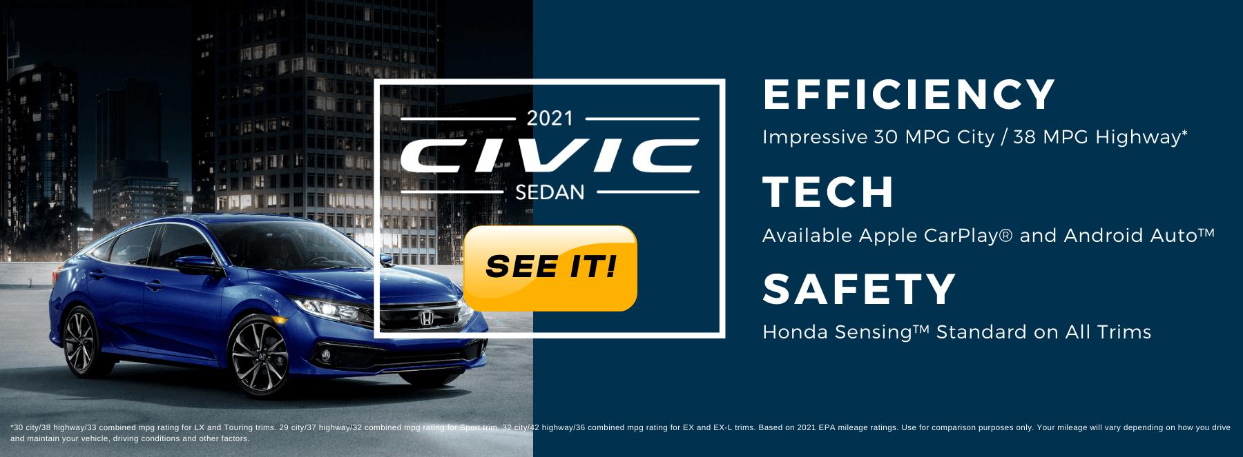 2021 Honda Civic Sedan HP Slide