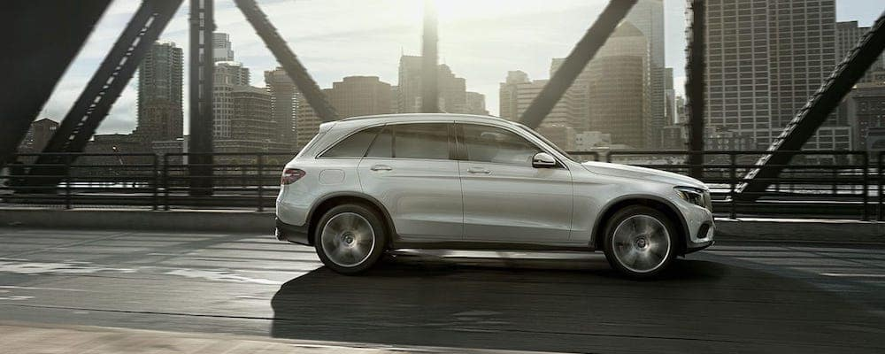 2019 GLC SUV on the road
