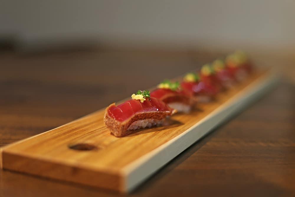 Seared Tuna Nigri at Kengo in Toledo