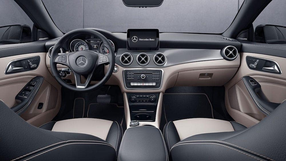 2019 Mercedes-Benz CLA front seats and dash