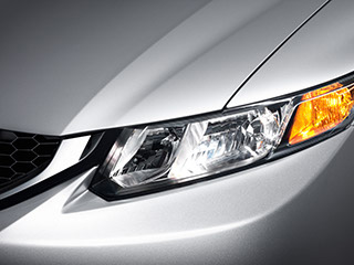 Daytime running lights on the 2014 Honda Civic