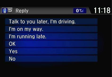 2015 Honda Civic SMS Text Message