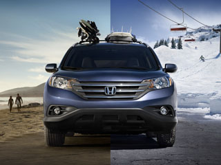 All wheel drive in the 2014 Honda CR-V