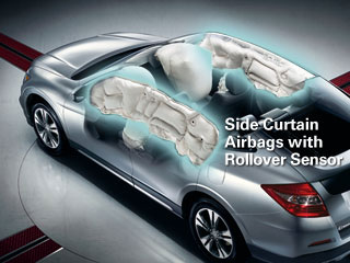 Crosstour Side Curtain Airbags