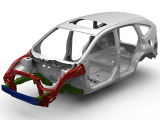 2014 Honda CR-V Advanced Compatibility Engineering Frame Details