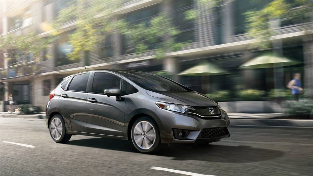 2016 Honda Fit Side Front Gray