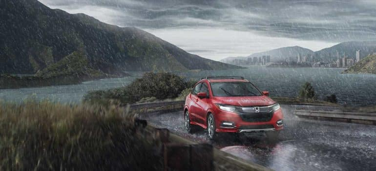 2019 Honda HR-V rainy mountain pass