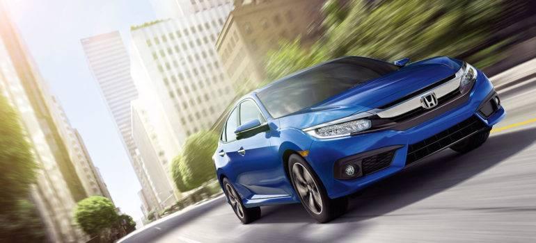 2017 Honda Civic Sedan in blue