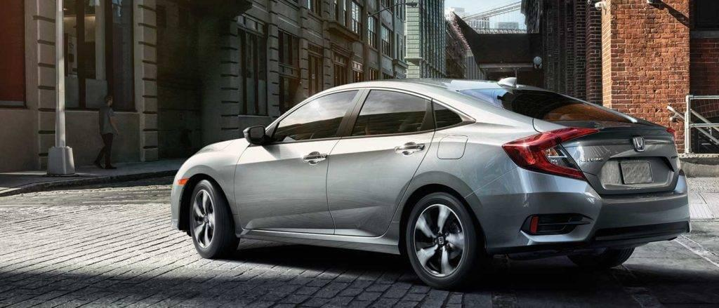 2017 Honda Civic Sedan in silver rear view