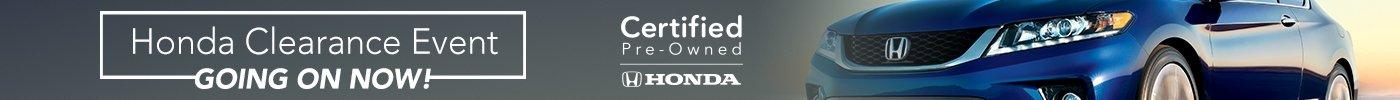 Honda Clearance Event