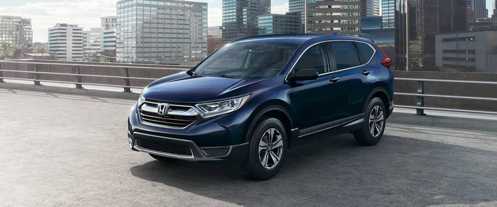 2018 Honda CR-V by the guard rail