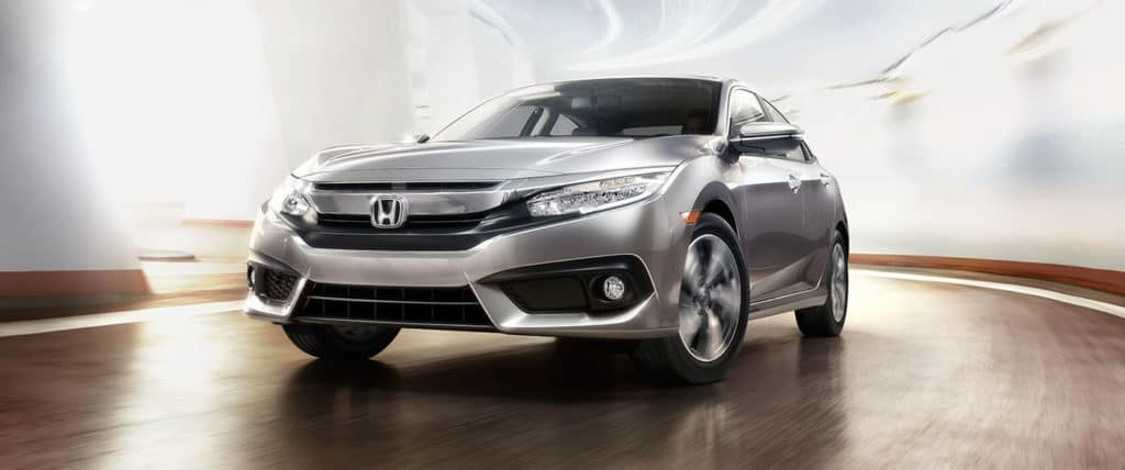 2018 Honda Civic touring ext in silver