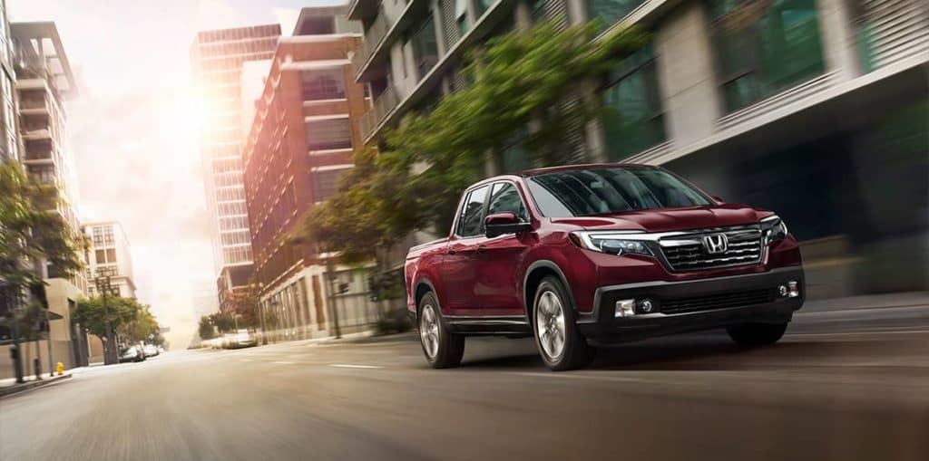 2019 Honda Ridgeline in the city