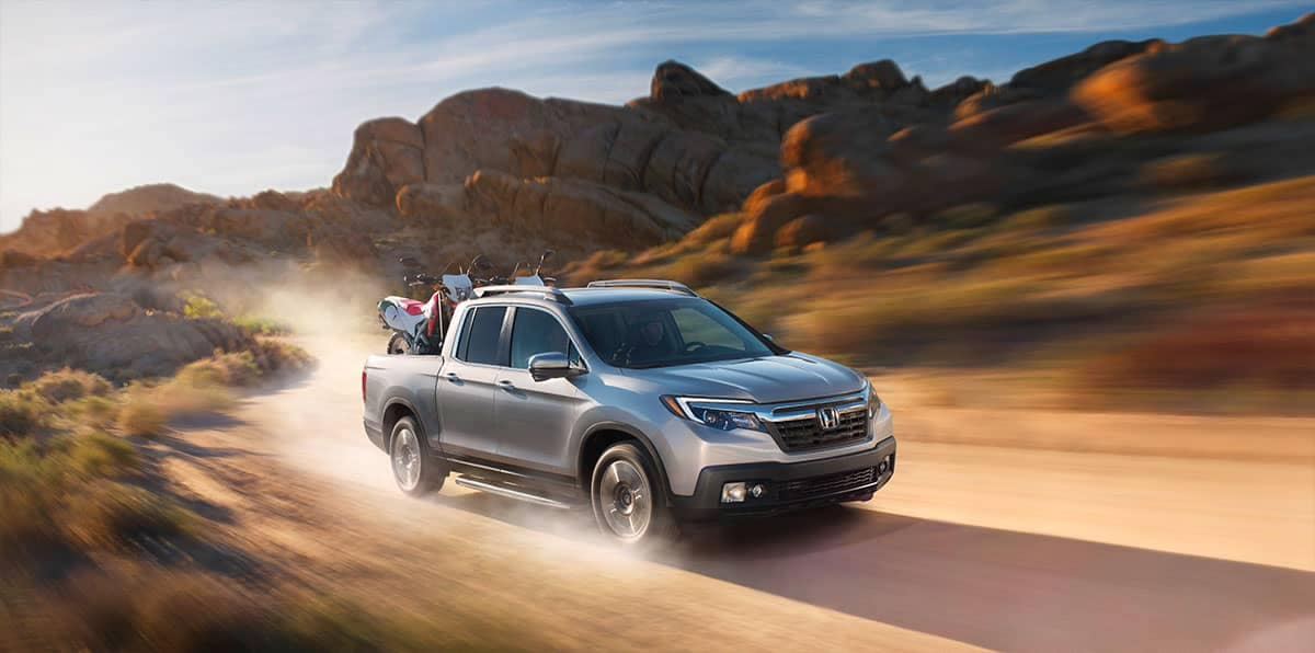 2019 Honda Ridgeline in the desert