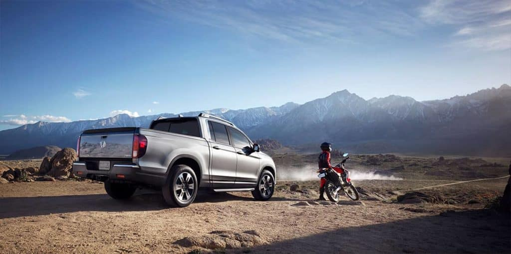 2019 Honda Ridgeline in the mountains
