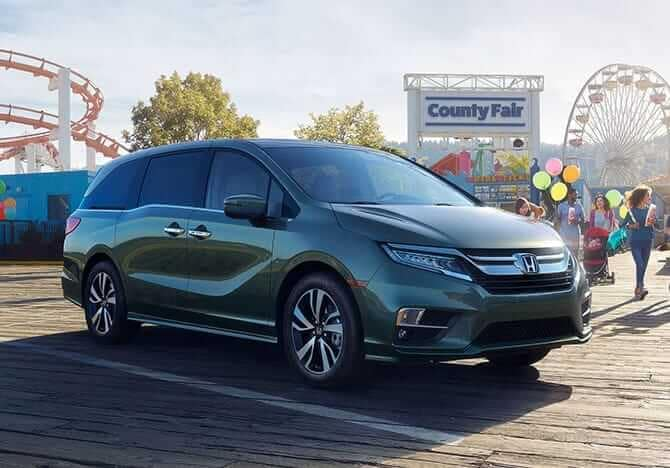 2019 Honda Odyssey at baseball game