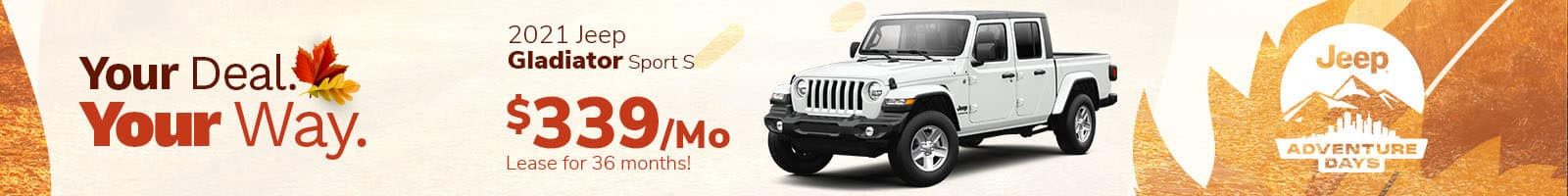 Best Deal on a 2021 Jeep Gladiator near Plainfield, IN