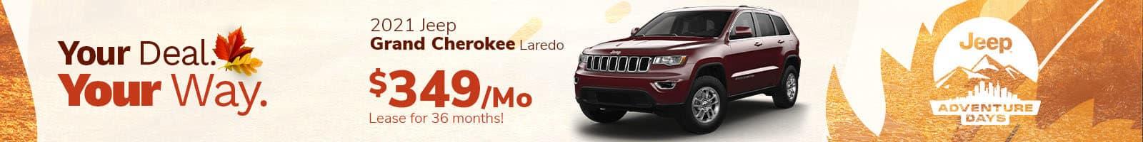 Lease a new Jeep Grand Cherokee near Brownsburg, Indiana