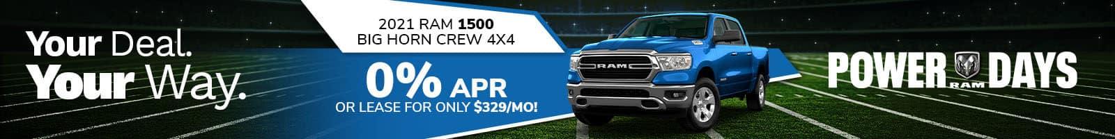 Best 2021 RAM 1500 lease deal near Plainfield IN